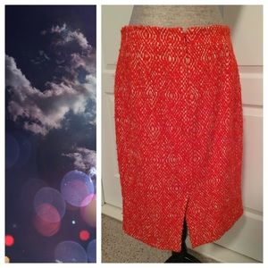 J. Crew Skirts - J. Crew No. 2 Pencil Skirt, Orange Corkscrew Tweed